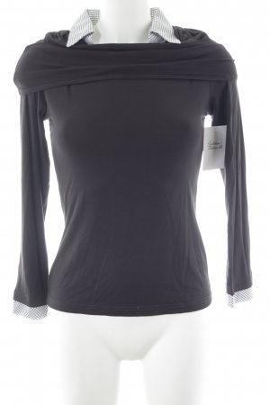 your cameo Sweat Shirt anthracite-natural white check pattern business style