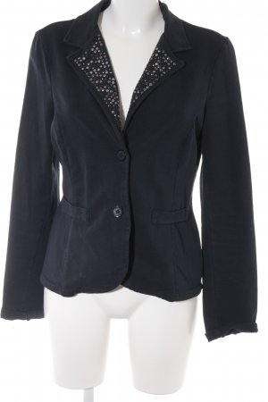 your & self Jersey Blazer azul oscuro look casual
