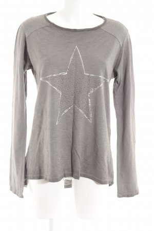 your & self Oversized Shirt grey brown placed print casual look