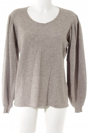 your & self Strickpullover grau meliert Casual-Look