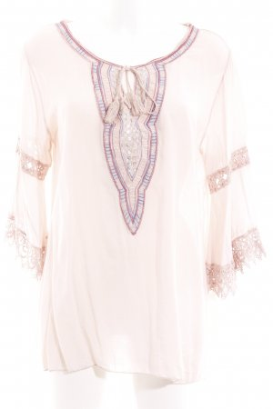 your & self Tuniekblouse rosé-roze Boho uitstraling