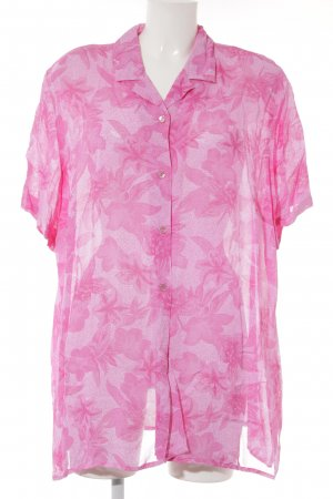 Your Sixth Sense Kurzarm-Bluse pink-rosa florales Muster Beach-Look