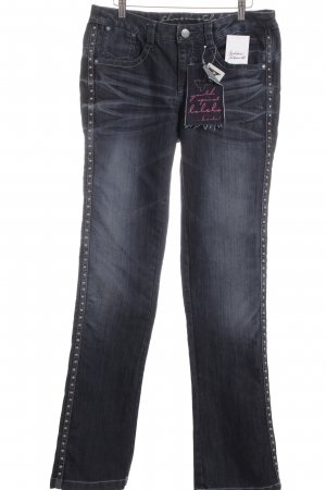 Youth against lables Boot Cut Jeans dark blue extravagant style