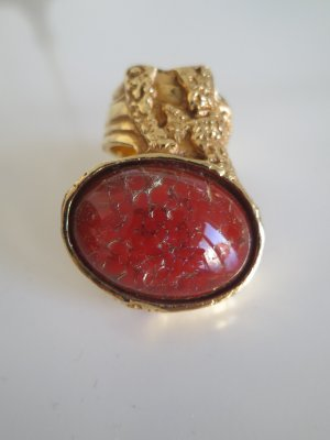 Yves Saint Laurent Anillo color oro-rojo claro