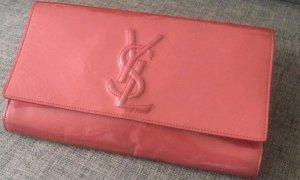Saint Laurent Pochette rose cuir