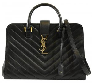 Ysl Cabas Monogram Matelasse Black Leather Shoulder Bag mit OVP & Rechnung