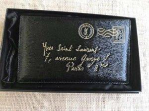 Yves Saint Laurent Custodie portacarte nero