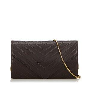 YSL Chevron Leather Chain Crossbody Bag
