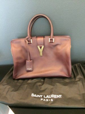 YSL Classic Cabas Chyc Bag in Bourdeux