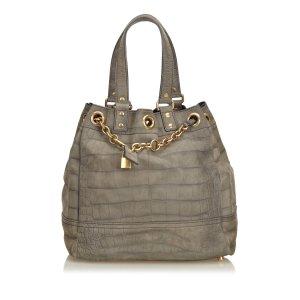 Yves Saint Laurent Tote khaki leather