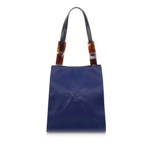 YSL Embossed Nylon Shoulder Bag