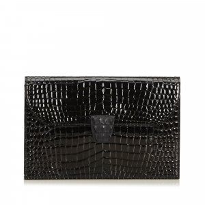 YSL Embossed Patent Leather Clutch