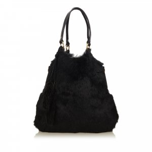 Yves Saint Laurent Sac fourre-tout noir pelage