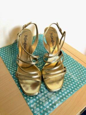 YSL Gold Heels, Gr. 8,5 (38,5)