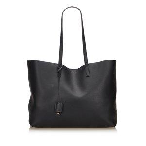 Yves Saint Laurent Bolso de compra negro Cuero