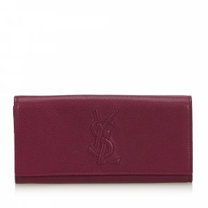 YSL Leather Belle Du Jour Long Wallet