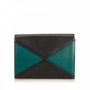 YSL Leather Bicolor Clutch
