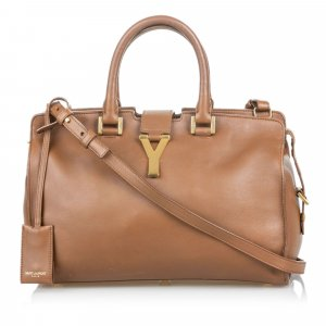 YSL Leather Cabas Chyc Satchel