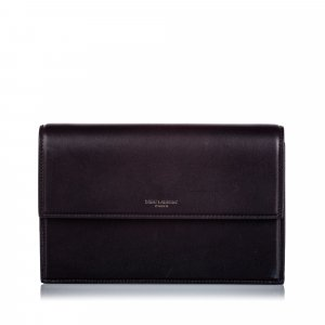 YSL Leather Chain Clutch Bag