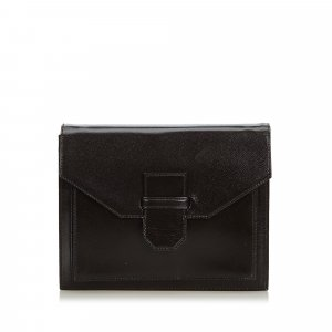 Yves Saint Laurent Clutch brown leather