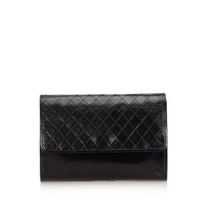 Yves Saint Laurent Clutch zwart Leer