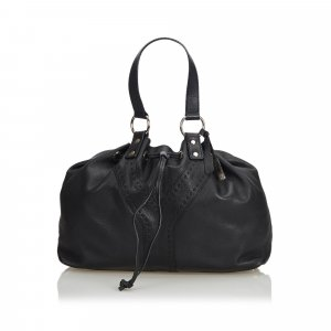 YSL Leather Double Sac Tote