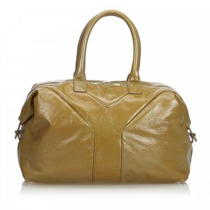 YSL Leather Easy Boston Bag