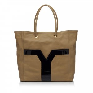 Yves Saint Laurent Tote beige leather
