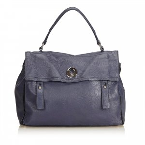 Yves Saint Laurent Cartella blu Pelle
