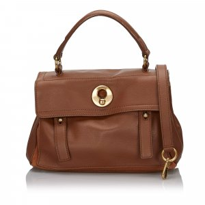 YSL Leather Muse Two Satchel