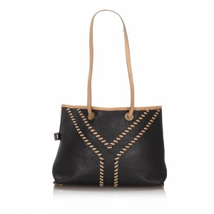 YSL Leather Reversible Neo Double Tote Bag