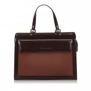 Yves Saint Laurent Tote dark brown leather