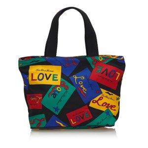 YSL Love Printed Nylon Handbag