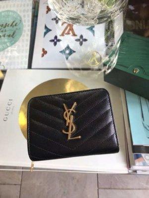 Yves Saint Laurent Portemonnee zwart-goud