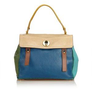 YSL Multicolor Leather Muse Two Handbag