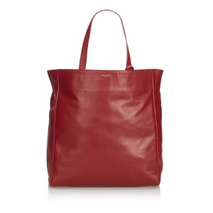Yves Saint Laurent Tote rood Leer