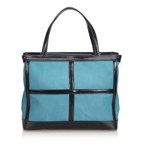 Yves Saint Laurent Tote lichtblauw Nylon