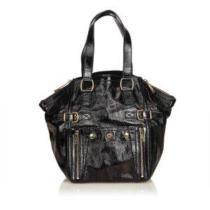 Yves Saint Laurent Sac fourre-tout noir faux cuir