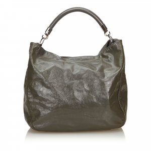 Yves Saint Laurent Tote green imitation leather