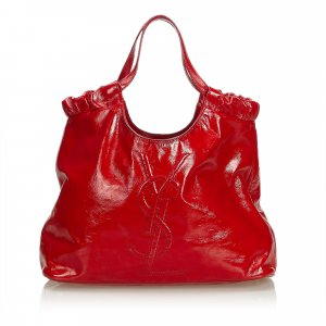 Yves Saint Laurent Tote red imitation leather