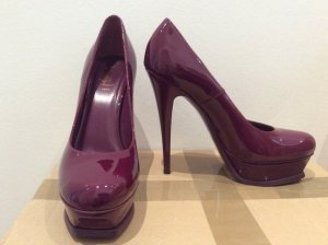 YSL Plateau Pumps, Tribute 105 Pump, Lackleder, Lila, 39 / 40, NEU