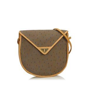 Yves Saint Laurent Crossbody bag khaki polyvinyl chloride