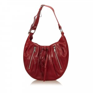 Yves Saint Laurent Borsa a tracolla rosso Pelle