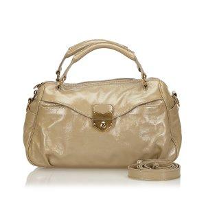 Yves Saint Laurent Satchel beige imitation leather