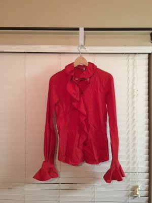 Yves Saint Laurent Ruche blouse baksteenrood