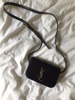 YSL Saint Laurent Université bag Tasche small klein schwarz silber