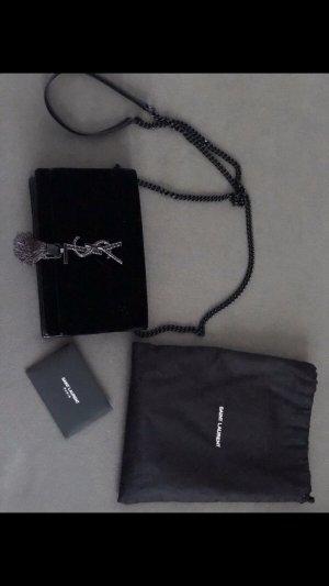 Yves Saint Laurent Shoulder Bag black-silver-colored