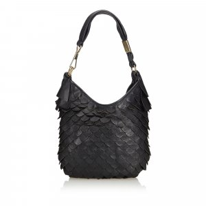 YSL Scaled Leather Hobo Bag