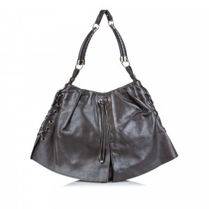 YSL Shangri-La Mombasa Leather Shoulder Bag