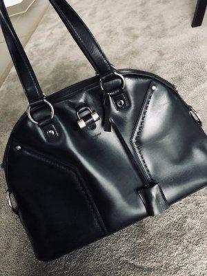Saint Laurent Handtas zwart-zilver